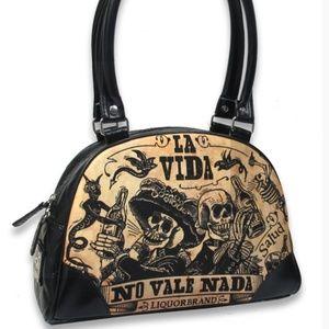 Liquor Brand LA VIDA Classic Bowler Bag Purse